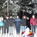 На лыжах)))